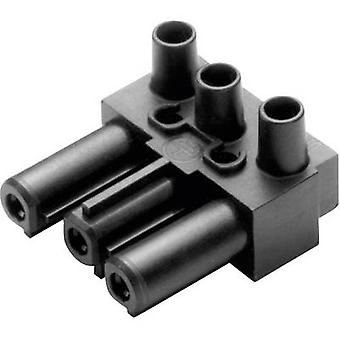 Mains connector AC Series (mains connectors) AC Socket, right angle Total number of pins: 2 + PE 16 A Black Adels-Contact AC 166 GBU/ 3 1 pc(s)