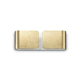 Ideal Lux Clip Twin Wall Light Mini Gold