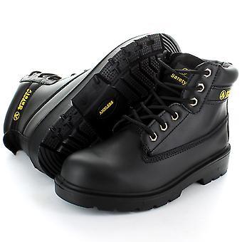 Amblers in acciaio FS112 Nero 6 occhiello Pad sicurezza superiore Toe Cap Boot