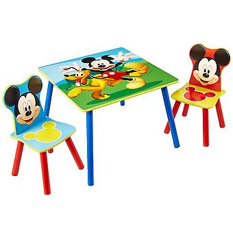 Wooden table and 2 Chairs Disney Mickey Mouse