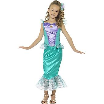 Deluxe Mermaid Costume, Green, with Dress & Hair Clip