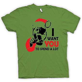 Mens t-skjorte-Santa jeg ønsker du - Funny - Christmas