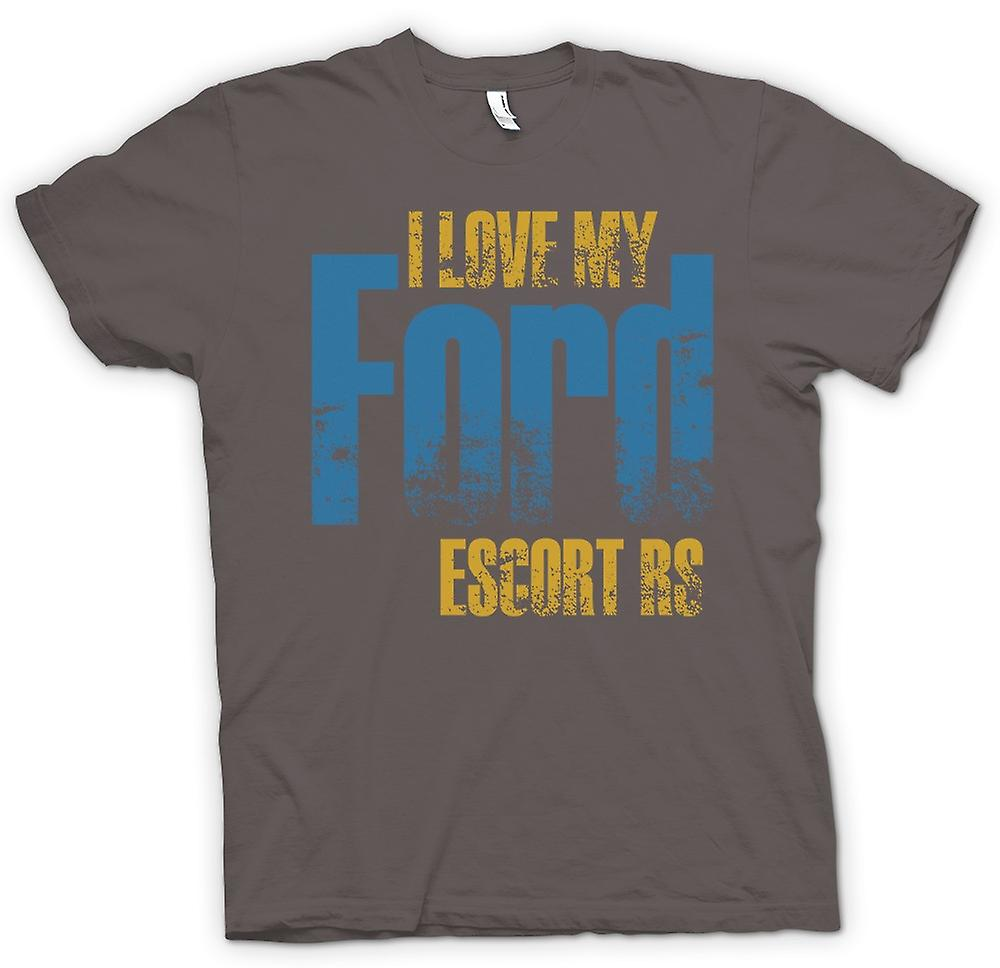 Womens T-shirt - I Love My Ford Escort Rs - Car Enthusiast