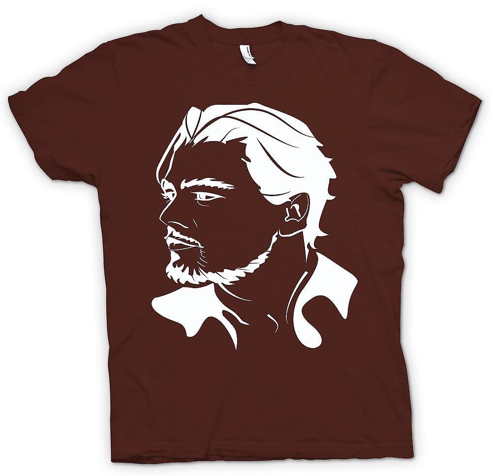 Mens T-shirt-Portrait de Leonardo Dicaprio