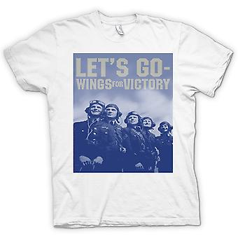 Lets Go - Wings For Victory - RAF - Royal Airforce T Shirt