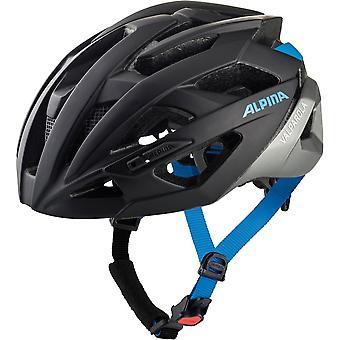 Alpina Valparola bike helmet / / black/silver/blue