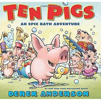 Tien varkens: Een epische Bad avontuur