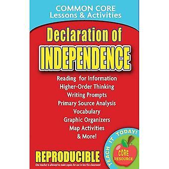 Déclaration d'indépendance commune Core leçons & activités
