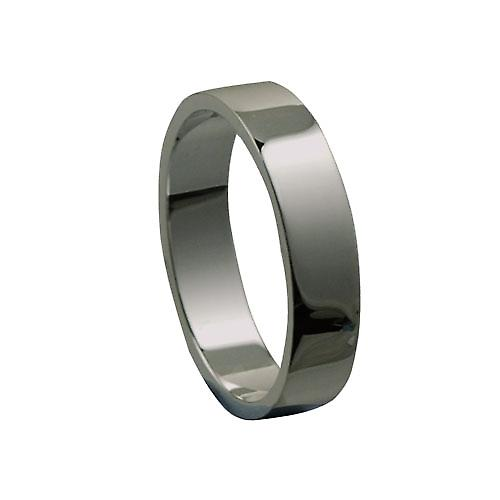 Platinum 5mm plain flat Wedding Ring Size Q
