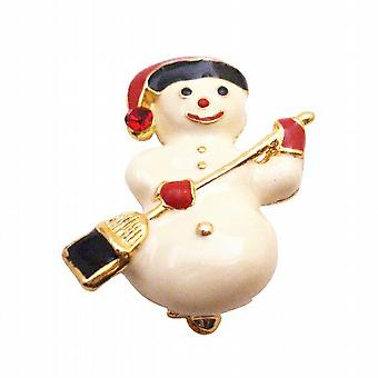 Cute Snowman Brooch For Christmas Smiling Snowman Winter Cake Brooch