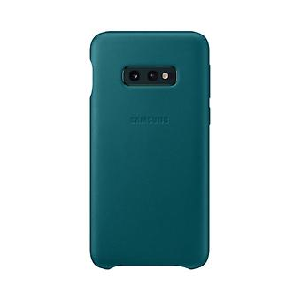 Samsung leather cover green for Samsung Galaxy S10e G970F EF VG970L bag case protective cover