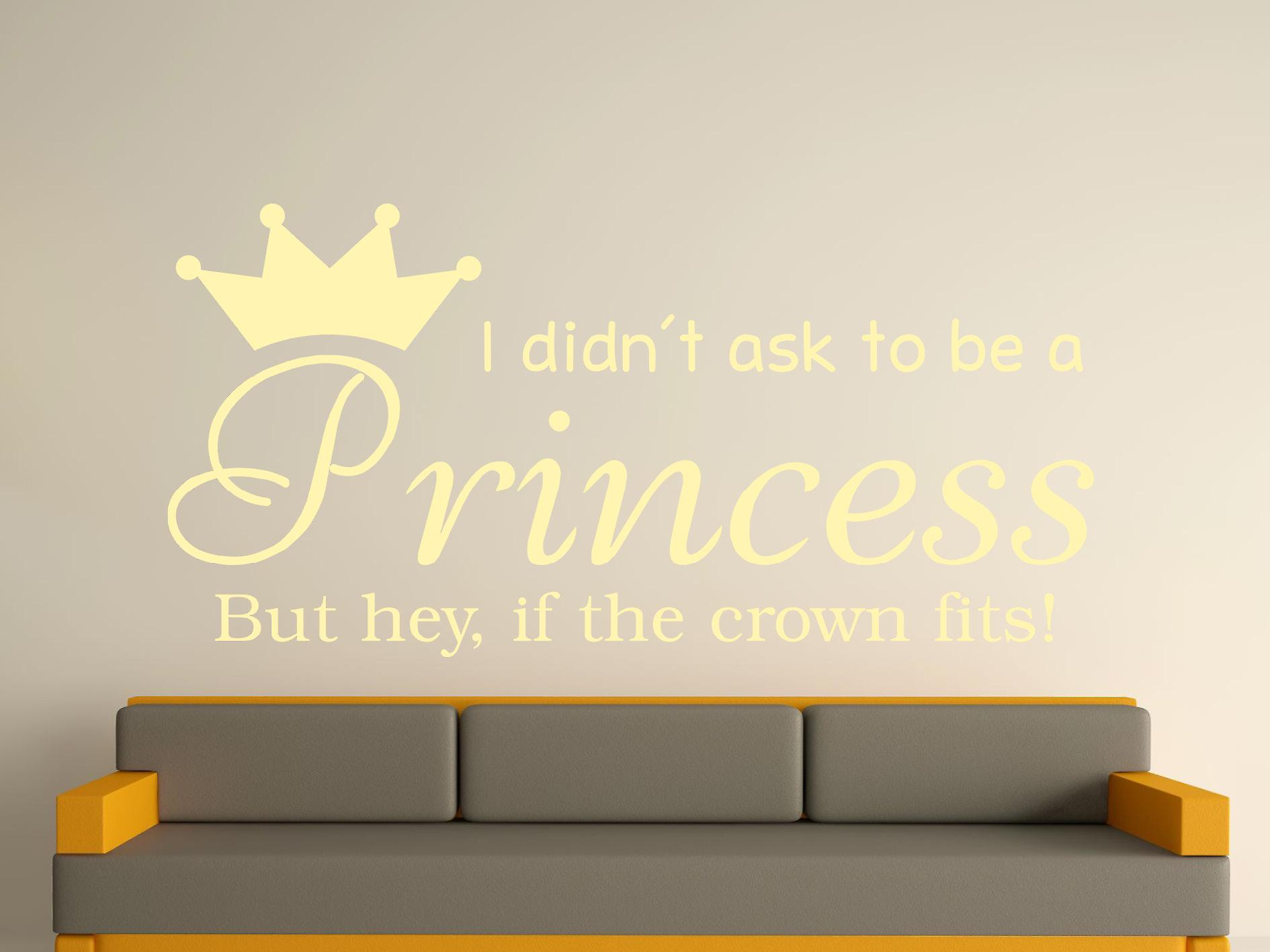 Being A Princess v2 Wall Art Sticker - Beige