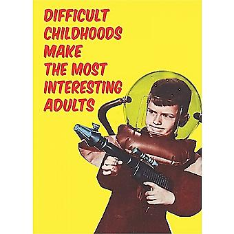Difficult Childhoods... Metal Funny Fridge Magnet    (hb)