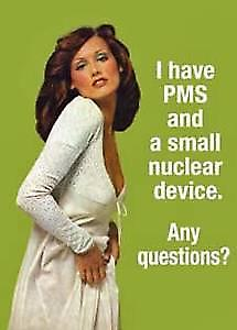 I Have PMS and a small... funny fridge magnet