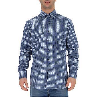Camisa de algodón azul de Prada