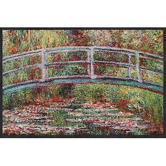 Salon lion doormat bridge water lilies Claude Monet