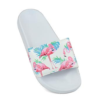 Sand Rocks Womens/Ladies Flamingo Print Flip Flops/Sliders
