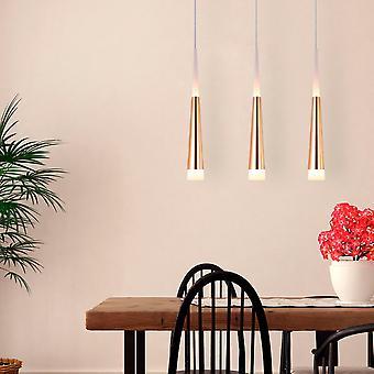 Lustre pendentif lampe plafond lumineux chambre 3 pendentif rectangulaire couvert dans le nouveau