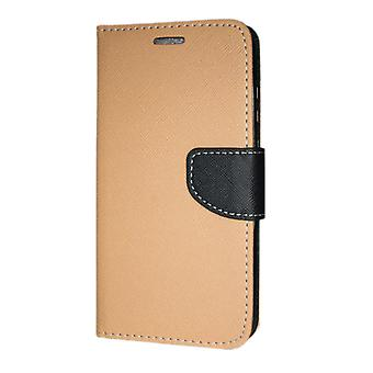 Huawei Mate 20 Little Wallet Case Fancy Case + wrist Strap Gold