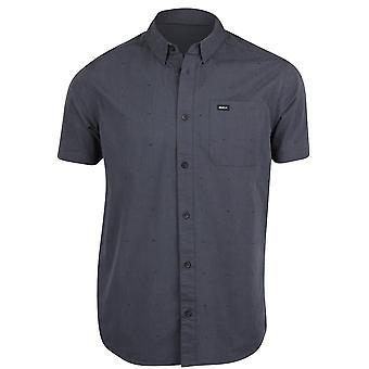 RVCA Mens VA Dobby SS Button Up Shirt - Charcoal