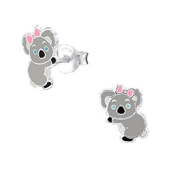 Children's Sterling Silver Koala Bear Stud Earrings