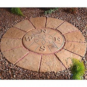 Deco Pak Buff Gold Compass Rotunda Circle 1.2m Paving Kit