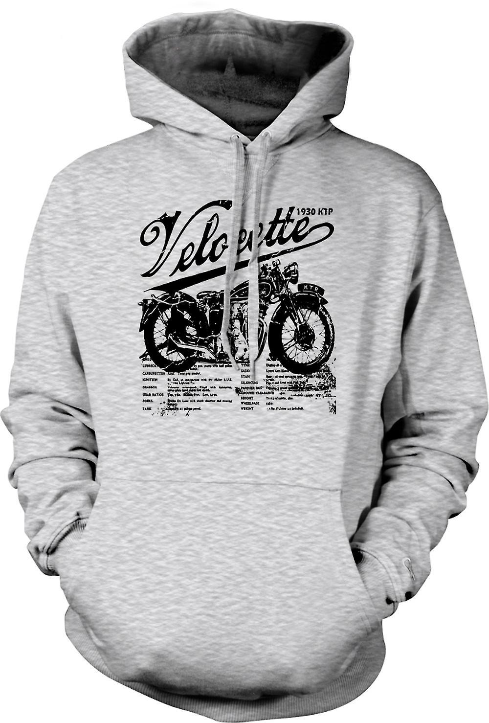 Mens Hoodie - Velocette KTP 1930 - Classic Bike