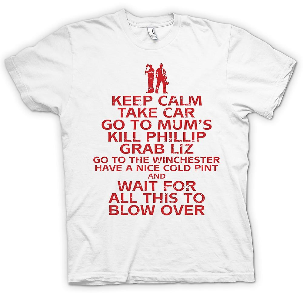 Womens T-shirt - Keep Calm - Take car - Go To Mum - Shaun Of The Dead