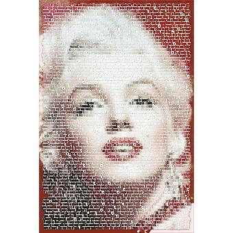 Poster - Studio B - 24x36 Marilyn Monroe: Written Images Wall Art CJ1376