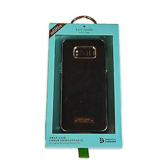 Kate Spade New York Leather Wrap Case for Samsung Galaxy S8 Plus -Saffiano Black