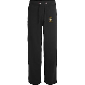 Royal Welsh Fusliers Veteran - Licensed British Army Embroidered Open Hem Sweatpants / Jogging Bottoms