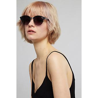 Louche Katy Black Wooden Sunglasses Black