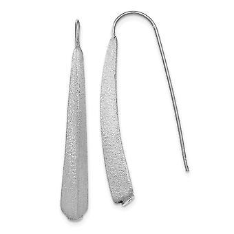 925 Sterling Silber poliert und gebürstet Ohrringe - 1,7 Gramm