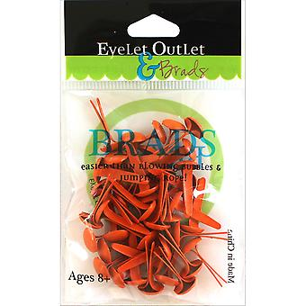 Eyelet Outlet Round Brads 8mm 40/Pkg-Orange BRD8MM-710N