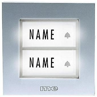 Bell button backlit, with nameplate 2x m-e modern-electronics KTB-2 S Silver 12 V/1 A