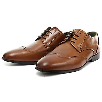 Frank James Lonney Tan Mens Lace Up Brogue Shoes