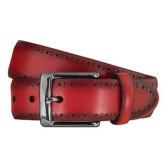 SAKLANI & FRIESE belts men's belts leather belt red 5114