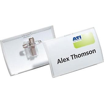 NAME PLATE CLICK FOLD+CLIP 40X75MM/25X