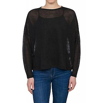 Lee Loose Zip Knit Shirt Damen Pullover Schwarz L41XGN01