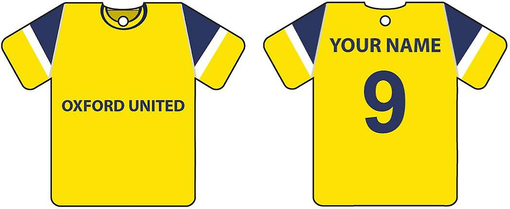Personalizzato Oxford United Football Shirt Car Air Freshener