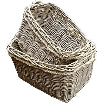 Set of 2 Deep Mill Log Baskets