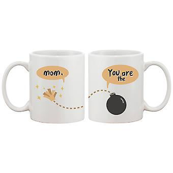 Mom You Are The Bomb Cute Ceramic Mug Mother's Day Gifts Funny Gift for Mommy