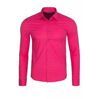 Tazzio fashion formal shirt men's long sleeve-shirt pink TZO-9000 model 1