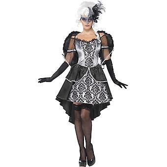Dunkle Opersängerin Oper Kostüm Halloween Operette Kleid Damen