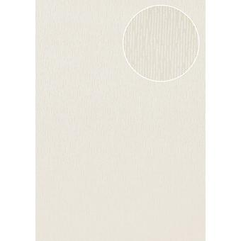High-quality tone on-tone wallpaper Atlas COL-544-4 non-woven wallpaper smooth solid colors shimmering creamy white 5.33 m2