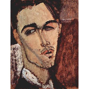Amedeo Modigliani - Portrait of Man Poster Print Giclee