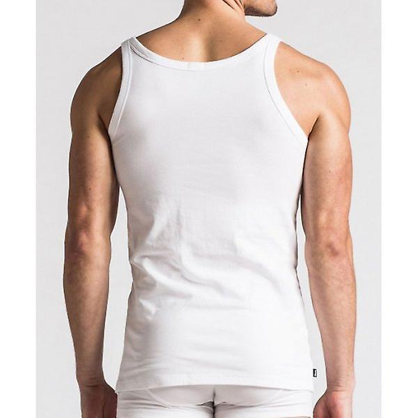 Diesel Bale Stretch Cotton Tank Top Vest, White