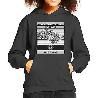 Haynes Workshop Manual 0171 Ford Escort 1300 Stripe Kid's Hooded Sweatshirt