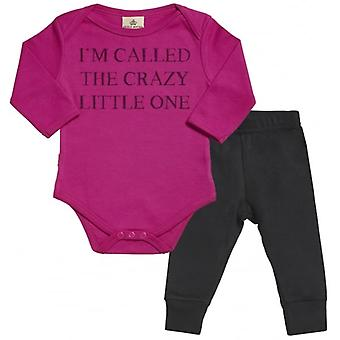 Spoilt Rotten I'm Called The Crazy One Babygrow & Jersey Trousers Outfit Set