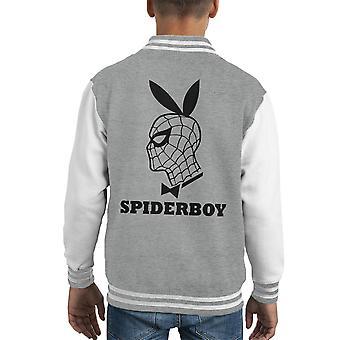 Varsity Jacket Spiderboy Spiderman fiesta Playboy Mashup niños